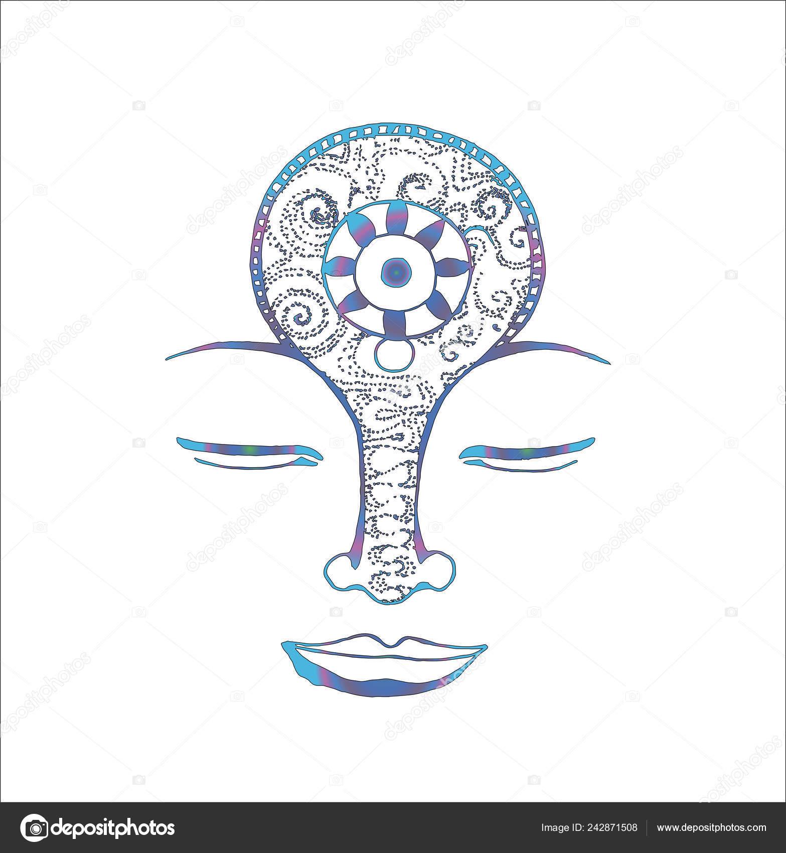 瞑想の精神とイラストマンダラとパターン入れ墨のためのアイデア