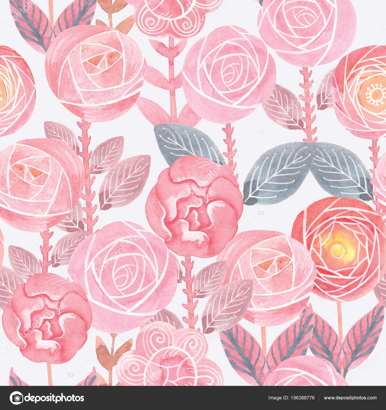 Dise o de arte floral patr n floral transparente - High resolution watercolor flowers ...