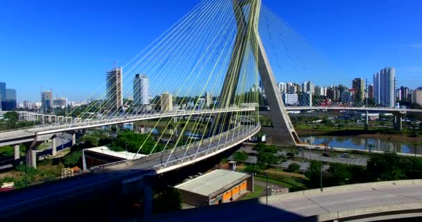 Cable-stayed bridge in the world, So Paulo Brazil, South America, the citys symbol