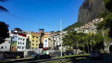 Rocinha community, lots of people, lots of houses, shops.Rio de Janeiro, Brazil South America