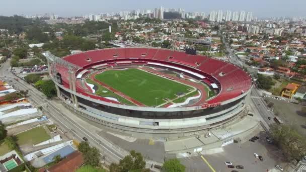 World football stadiums. Football around the world.Sao Paulo Football Club or Morumbi Stadium or Cicero Pompeu Toledo Stadium. Sao Paulo city, Brazil, South America