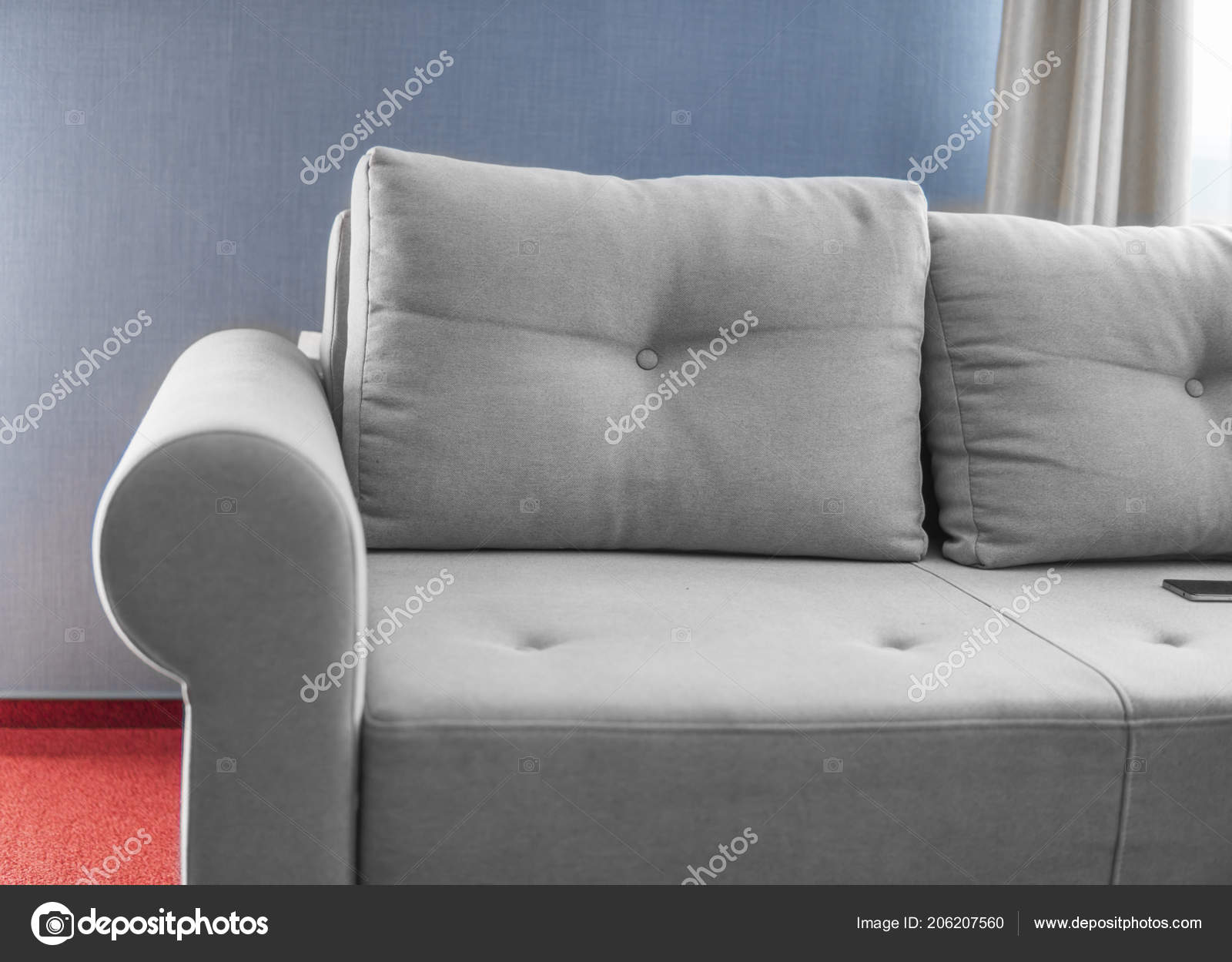 Stupendous Grey Couch Blue Walls Comfortable Grey Couch In A Living Ibusinesslaw Wood Chair Design Ideas Ibusinesslaworg