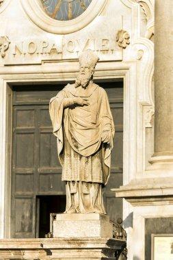 """Картина, постер, плакат, фотообои """"скульптуры кафедрального собора святой агаты в катании, сицилия, италия ."""", артикул 265610016"""