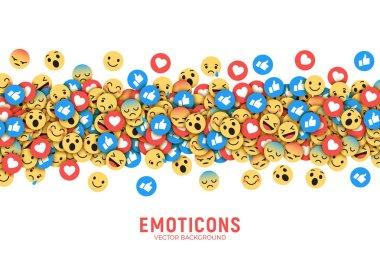 Vector Flat Modern Emoji Conceptual Background