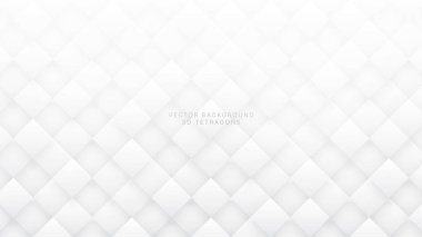 White 3D Vector Rhombus Abstract Background