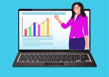 Webinar and video seminar learning concept. Vector illustration. icon