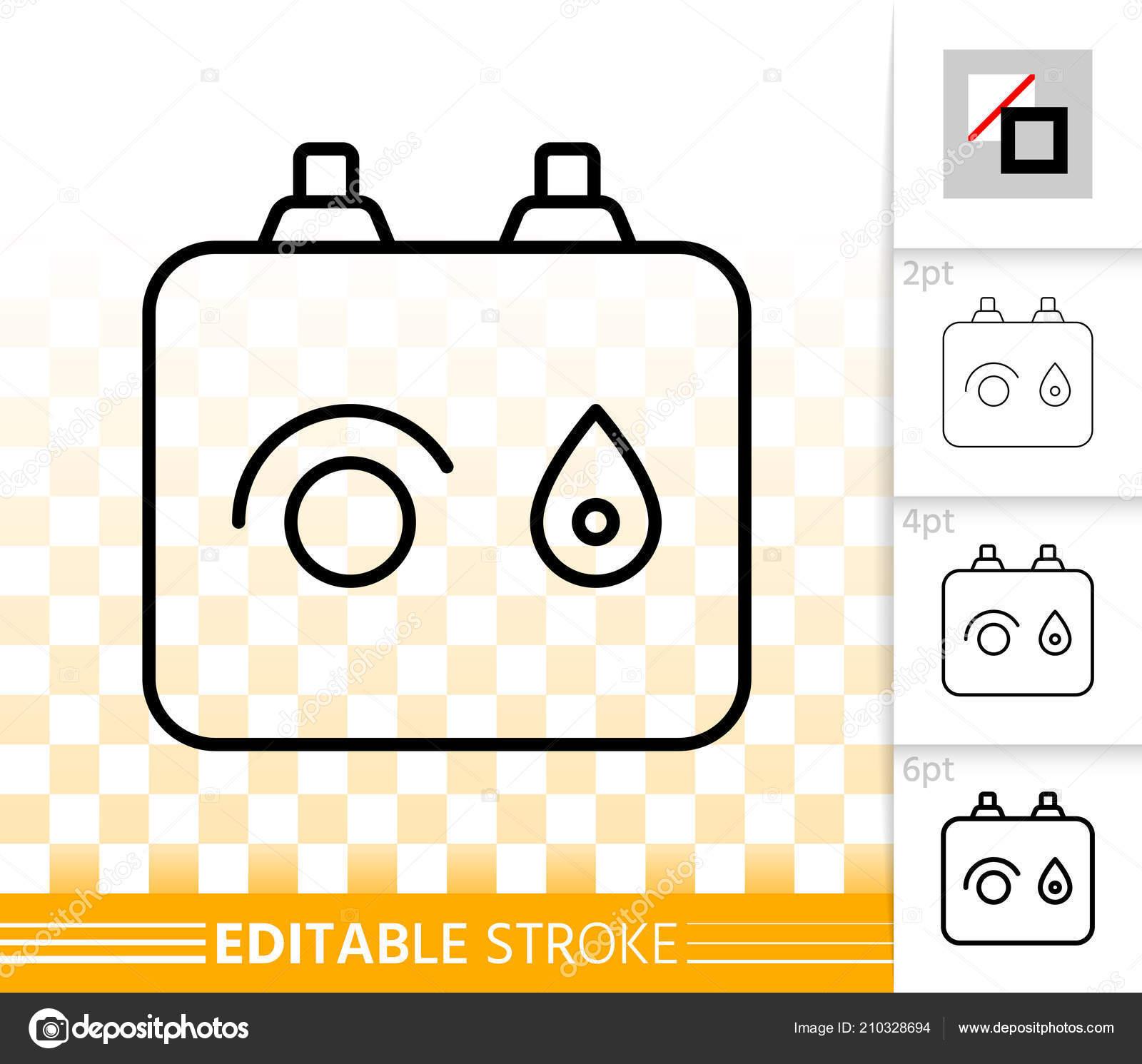 Boiler simple black line vector icon — Stock Vector © Suesse #210328694