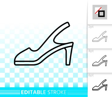 Women Shoes simple black line vector icon