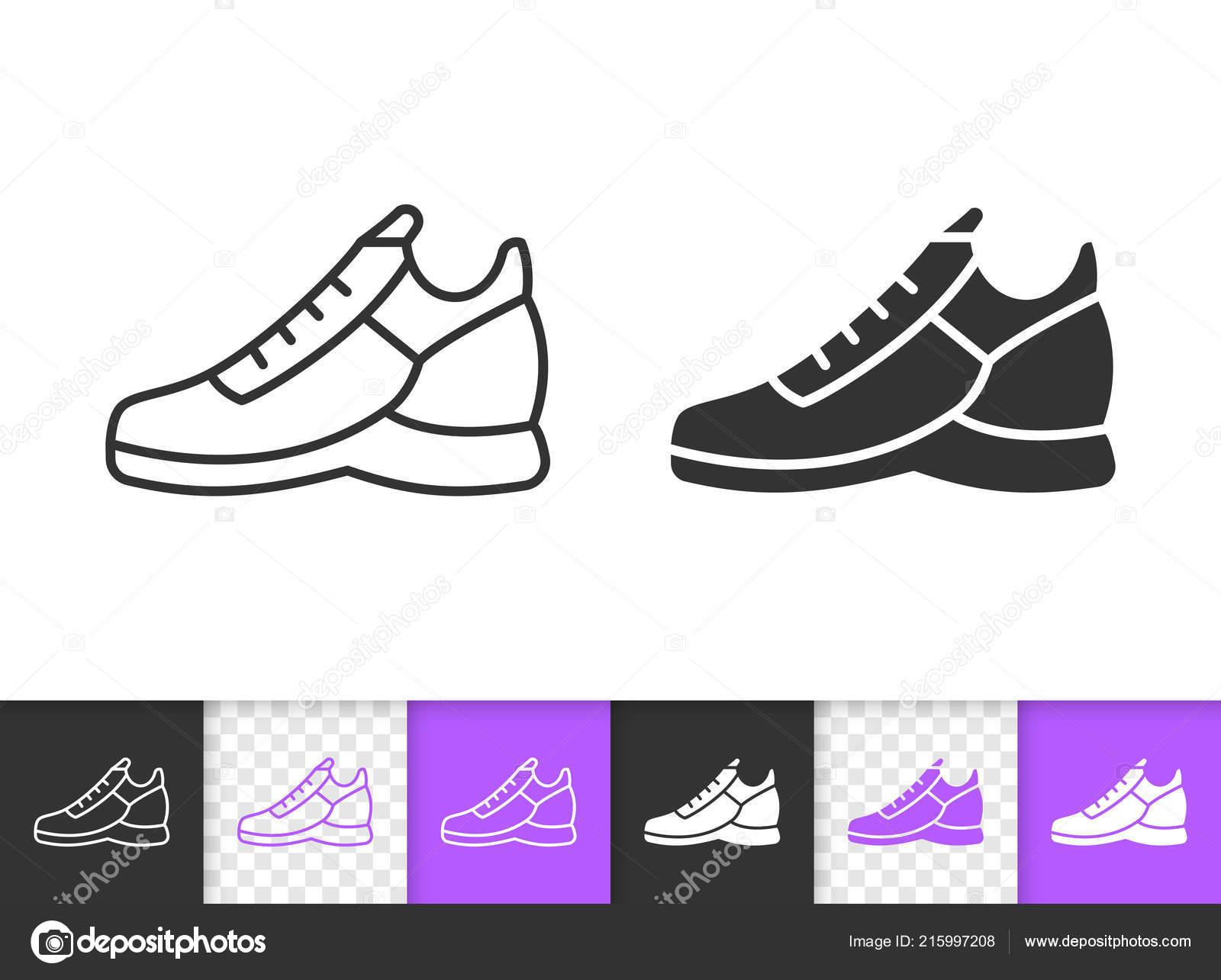 Frauen Schuhe einfache schwarze Linie Vektor Symbol