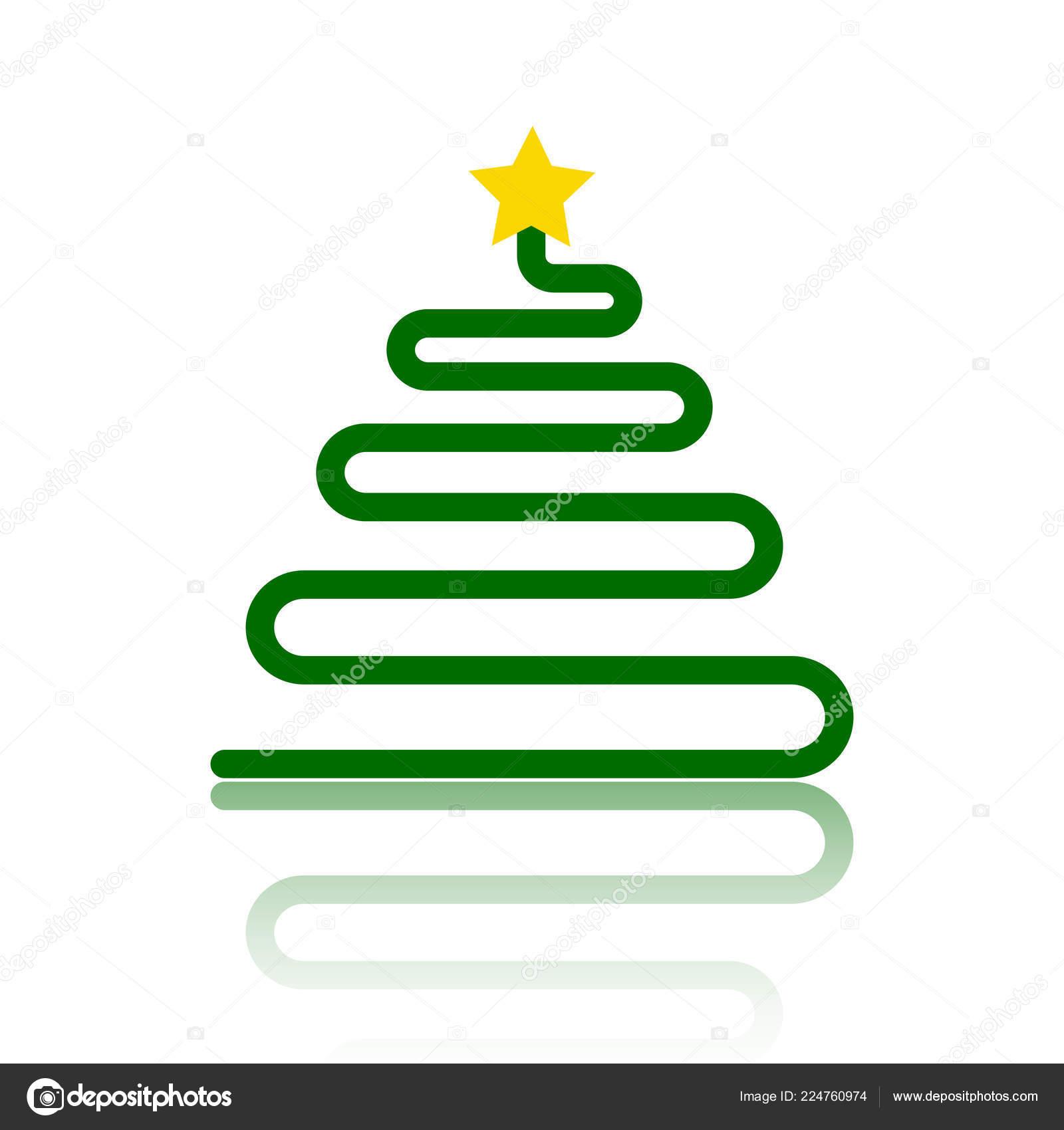 Icône De Vecteur Plat Couleur Simple Arbre De Noël Image