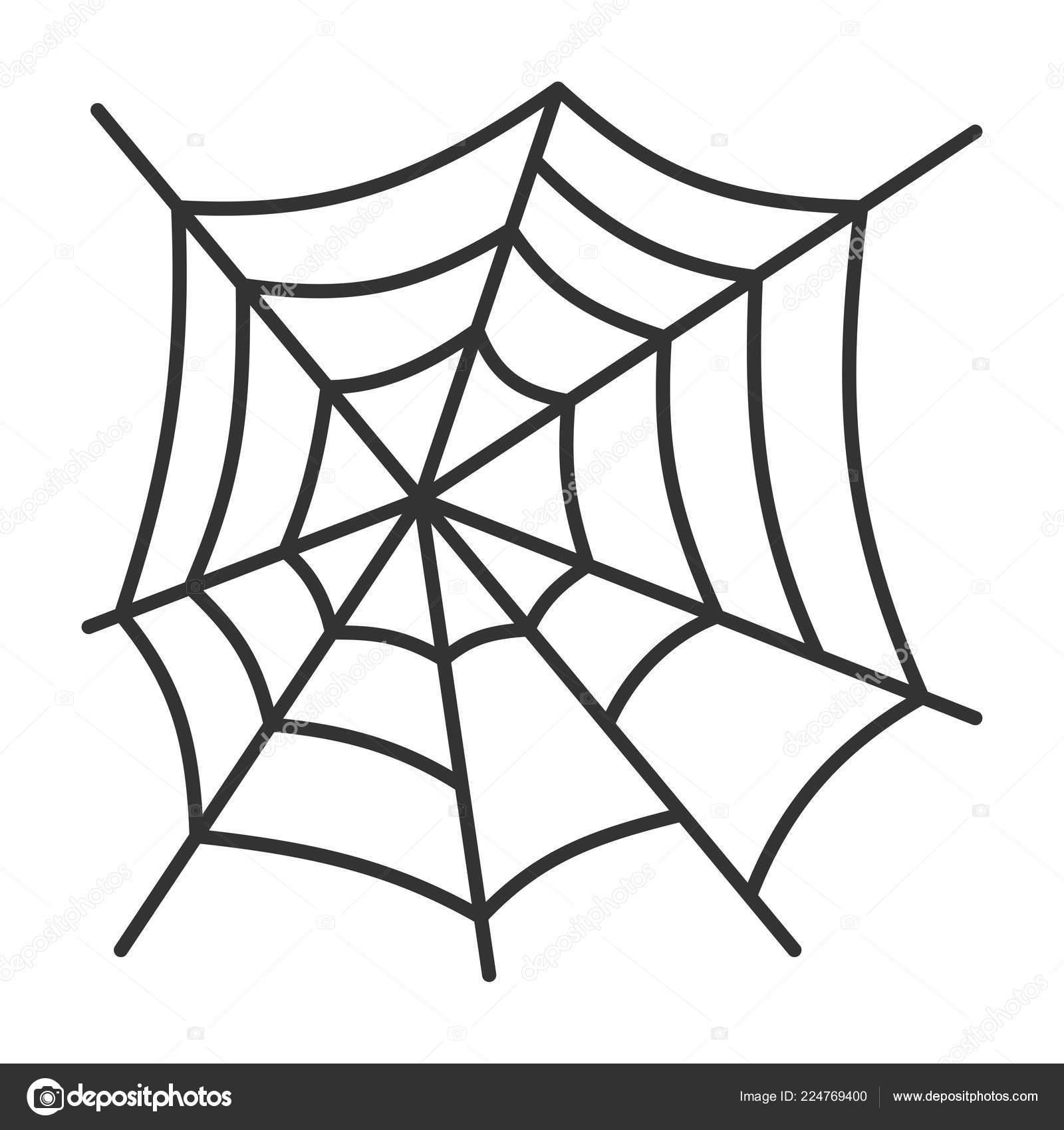 Icône De Fine Toile D Araignée Halloween Avc Modifiable