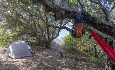 Camping along route 1 in Northern California - Los Padres National Forest