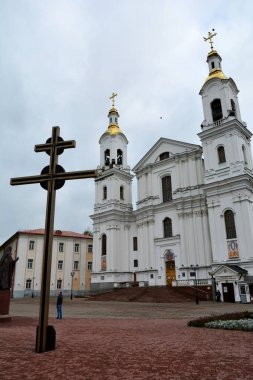 Holy Assumption Cathedral of the Assumption on the hill and the Holy Spirit convent. Vitebsk, Belarus
