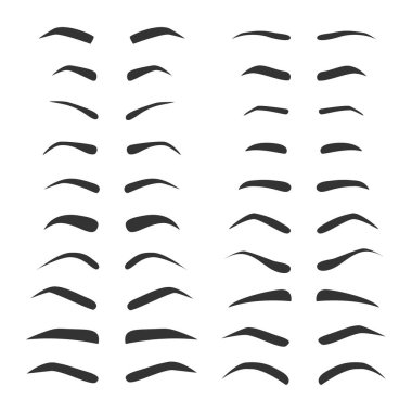 set of monochrome eyebrows.