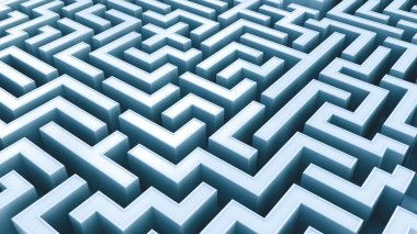 conceptual view of Labyrinth, 3D illustration