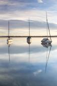 Boote auf dem Starnberger See bei Tutzing, Bayern, Deutschland, Europa