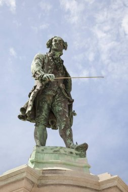 Statue of Giuseppe Tartini in Tartini Square, Piran, Istria, Slovenia, Europe