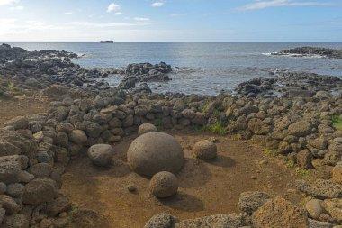 Ahu Te Pito Kura, the Navel of the World, Easter Island, Chile, South America