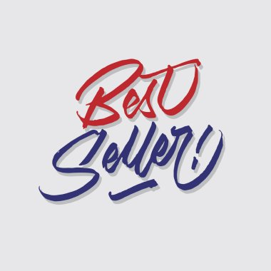 best seller hand lettering typography sales and marketing shop store signage poster