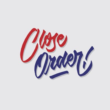 close order hand lettering typography sales and marketing shop store signage poster