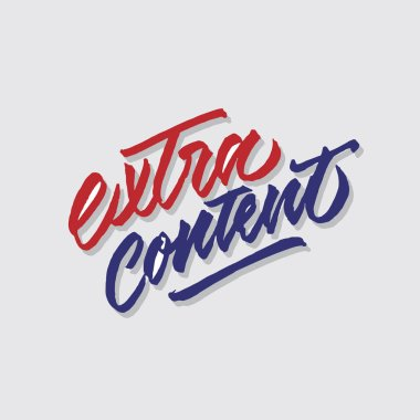 extra content hand lettering typography sales and marketing shop store signage poster
