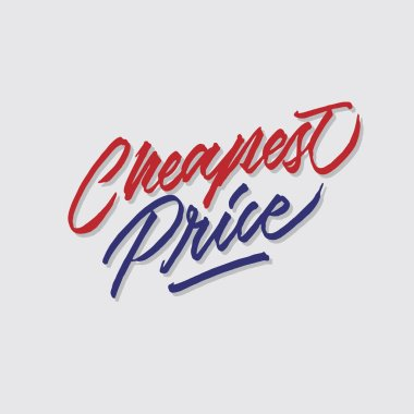 cheapest price hand lettering typography sales and marketing shop store signage poster