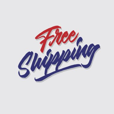 free shipping hand lettering typography sales and marketing shop store signage poster