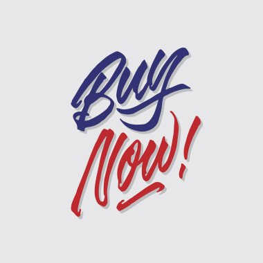 buy now hand lettering typography sales and marketing shop store signage poster