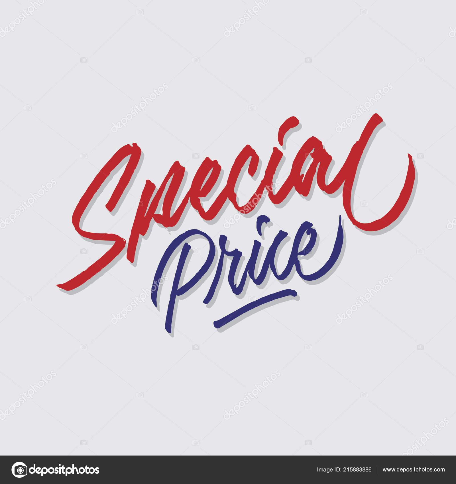 Ceny Specjalne Strony Napis Typografia Sprzedaży Marketingu