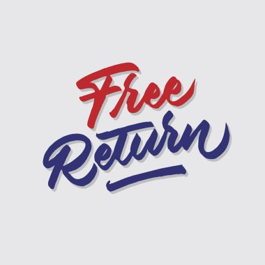 free return hand lettering typography sales and marketing shop store signage poster