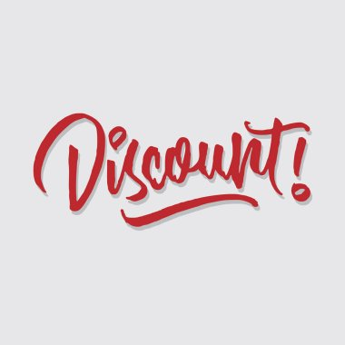 discount hand lettering typography sales and marketing shop store signage poster