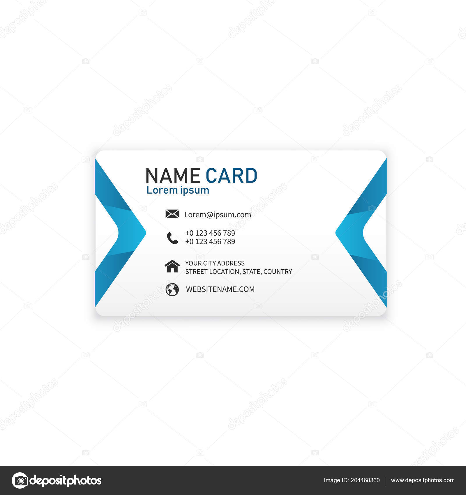 Blue business modern name card vector image vetores de stock blue business modern name card vector image vetores de stock reheart Images