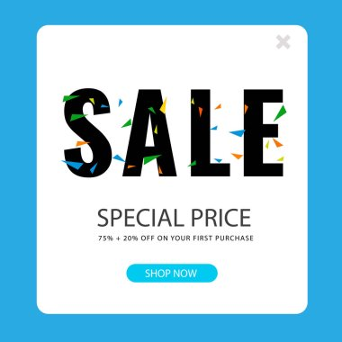 Sale Special Price 75%+20% Square Frame Background Vector Image
