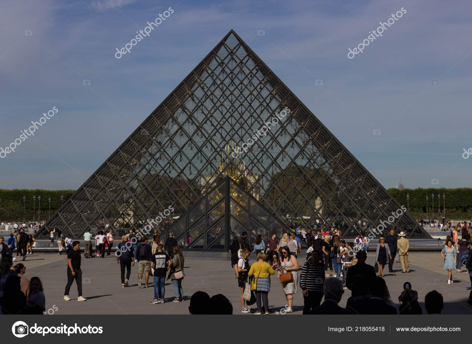 Geometrical Forms Shaped Parts Louvre Pyramid Glass Pyramid