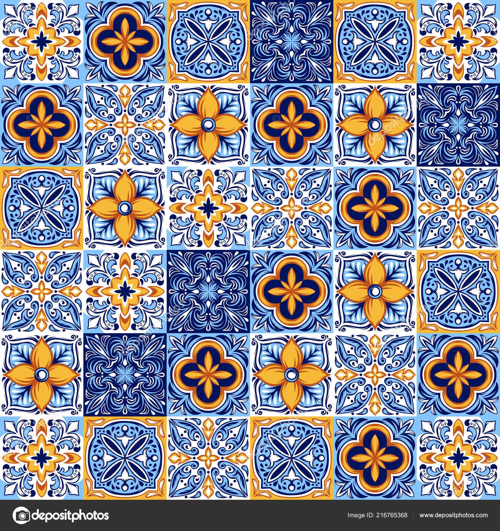 Italiaanse Keramische Vloertegels.Italiaanse Keramische Tegels Patroon Etnische Folk Sieraad