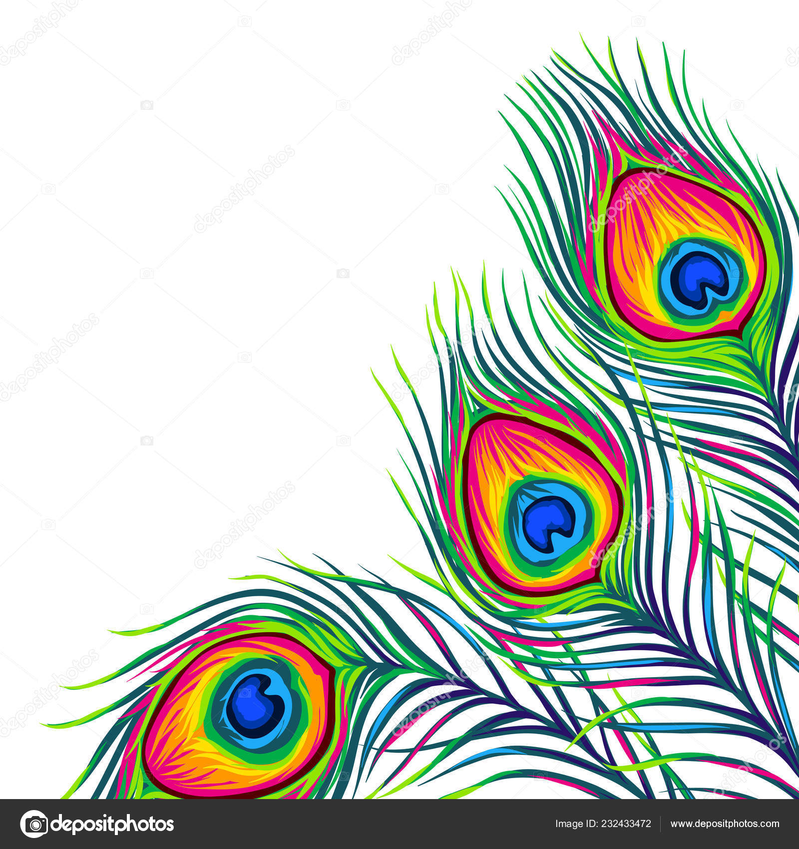 Background With Peacock Feathers Stock Vector C Incomible 232433472