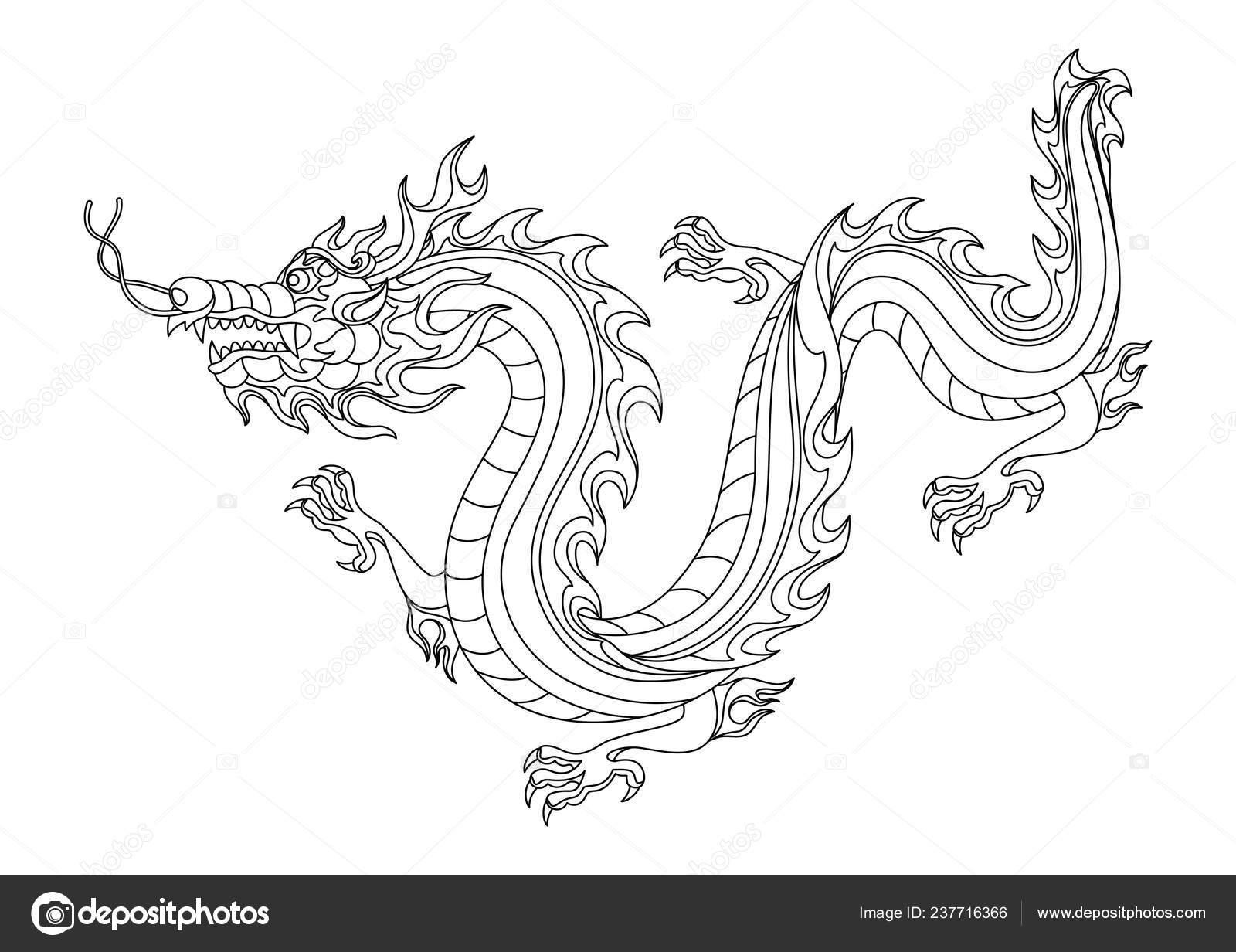 abbildung des chinesischen drachen malvorlagen zum drucken