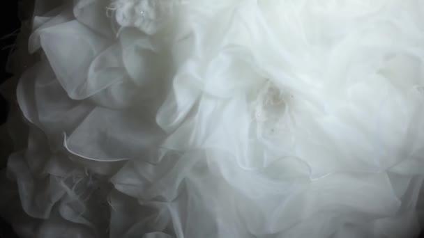 Bílé svatební šaty v odstínu a krásnou sluneční světlo