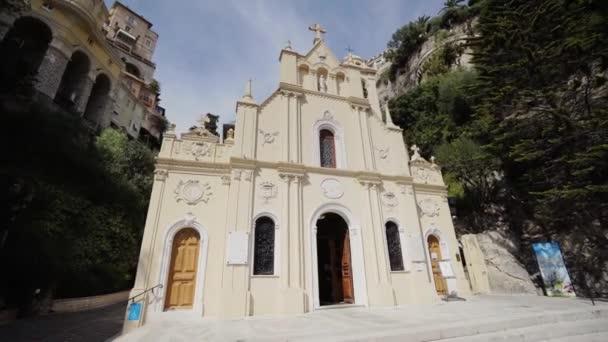 Děkanský kostel v Monaco Monte Carlo city letní