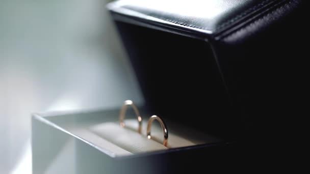 Silver Wedding Rings in the black box macro closeup shoot diamon Jewellery