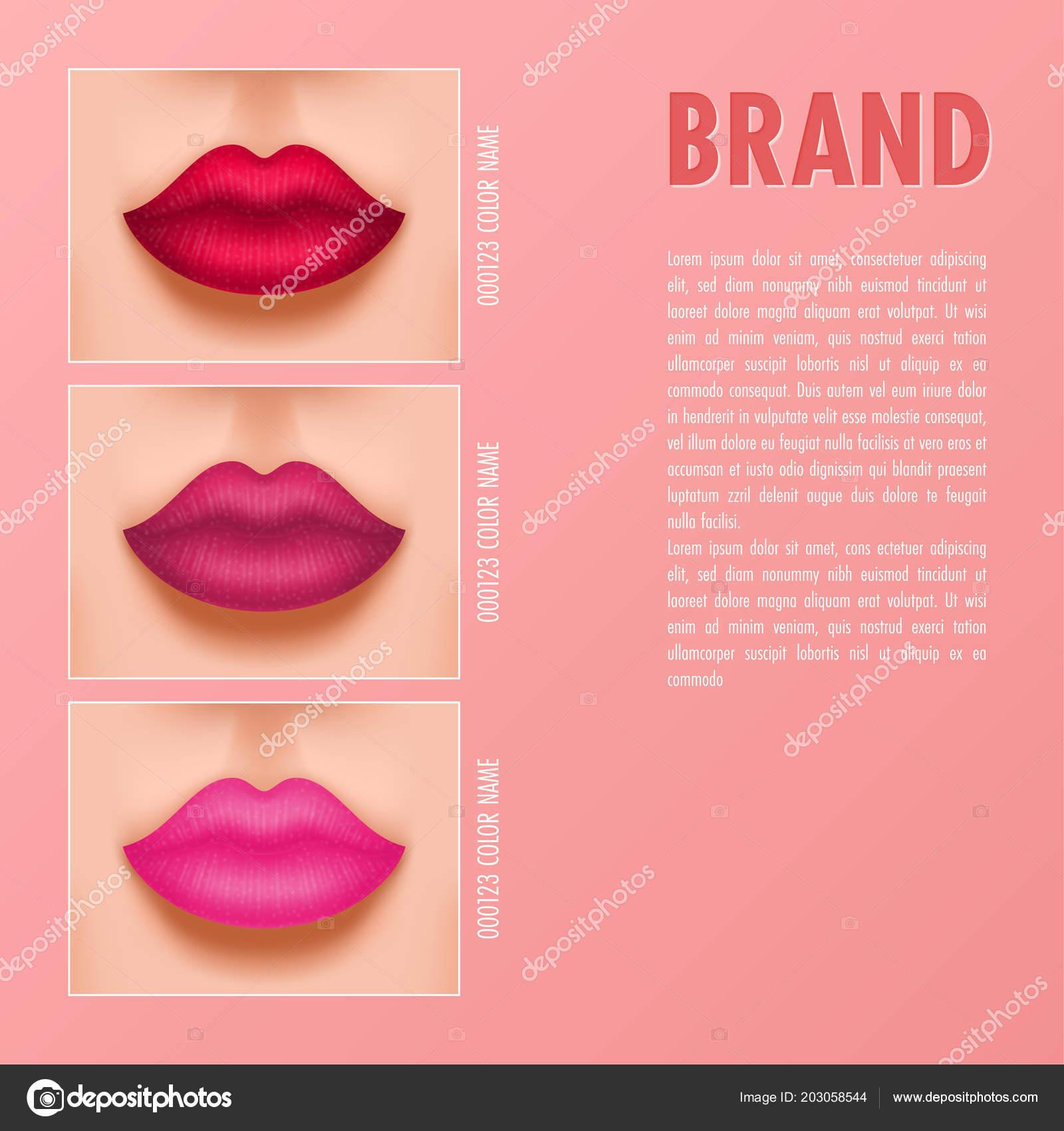 cosmetic magazine template lipstick catalog vector illustration