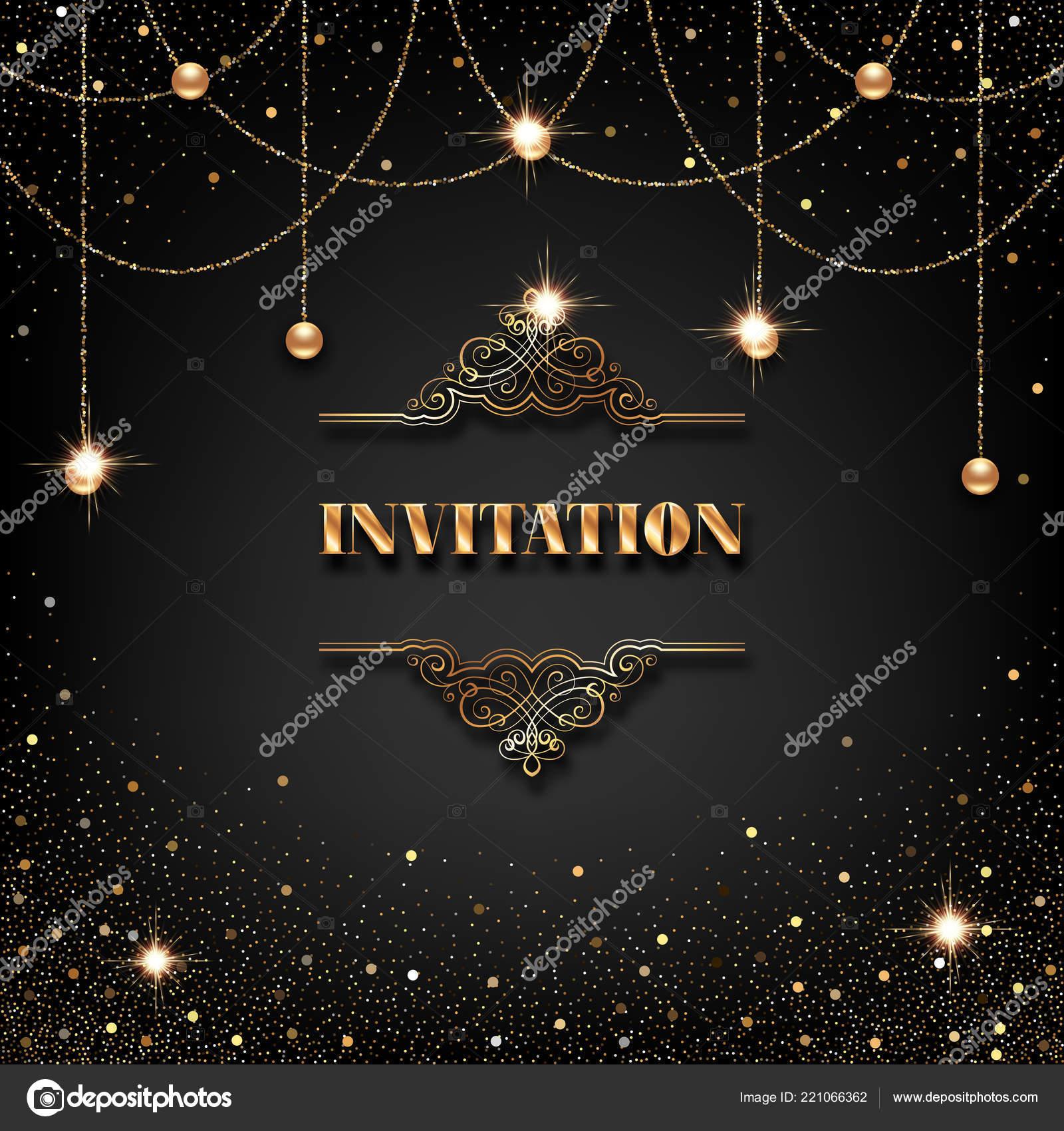 Tarjeta De La Invitación Vip Vector De Stock Nonikastar