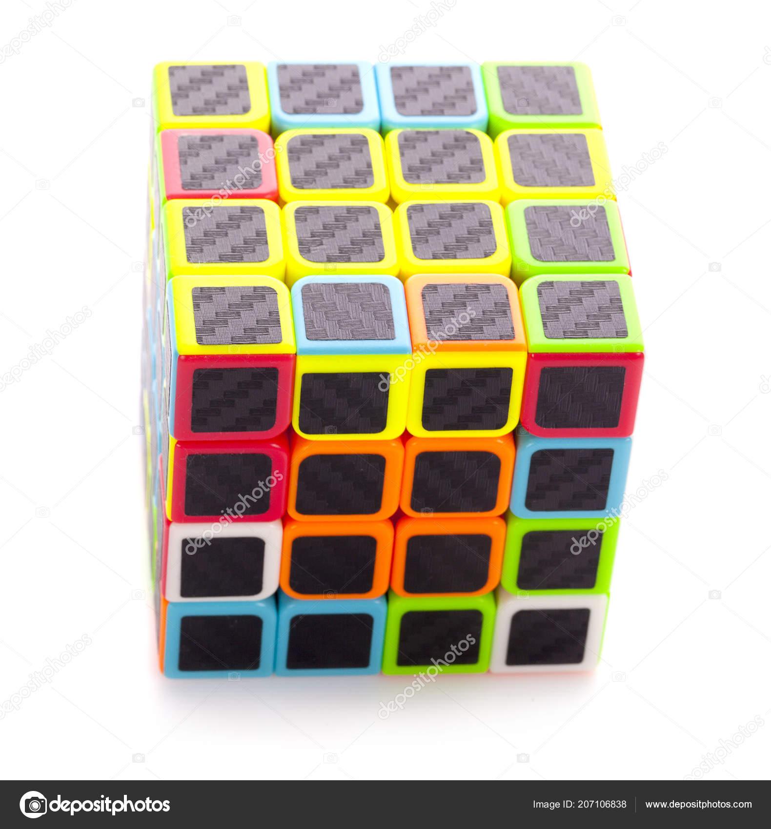 Istanbul Thailande Mars 2018 Cube Rubik Sur Fond Blanc