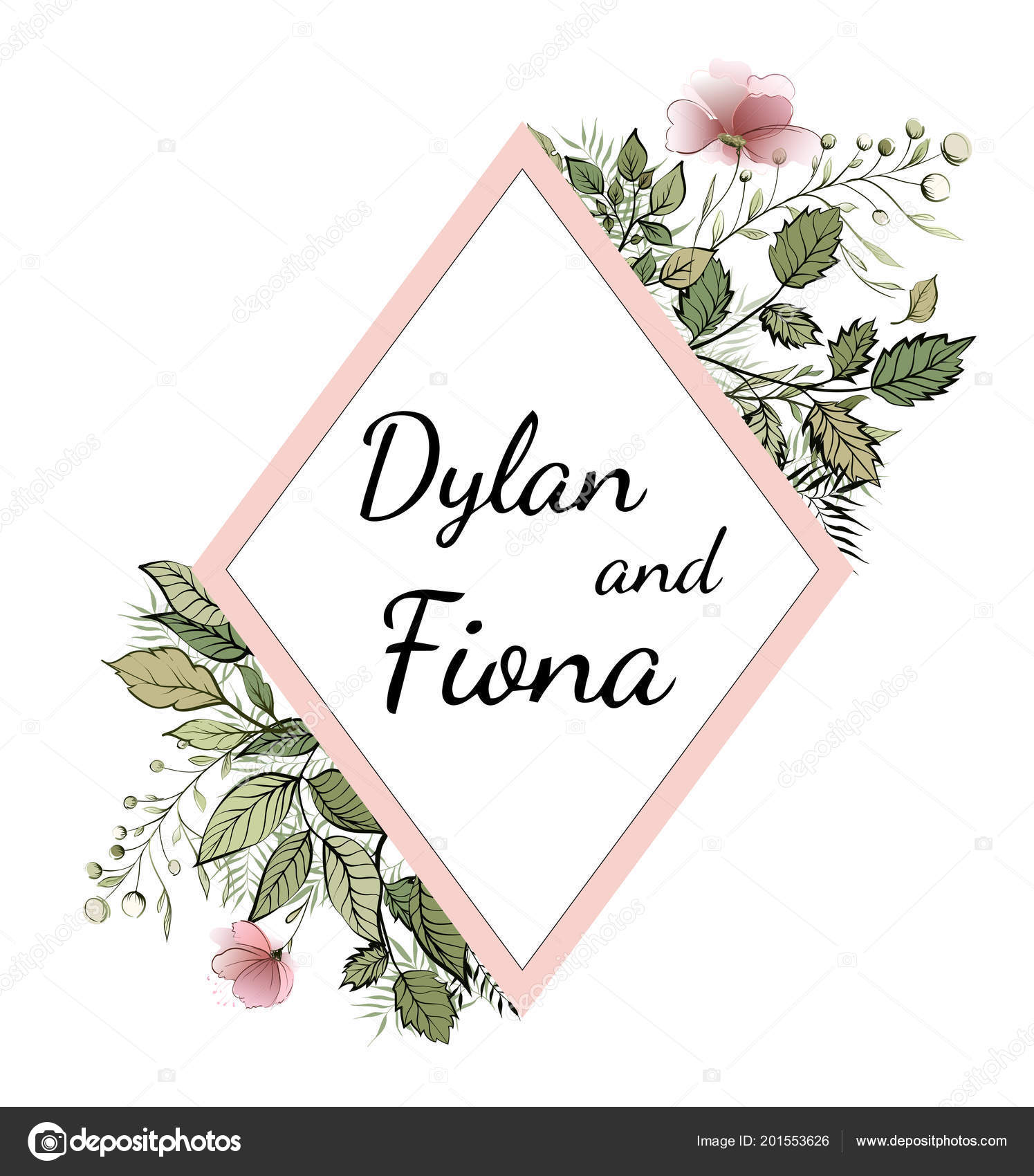 floral wedding invitations save the date card watercolor flower