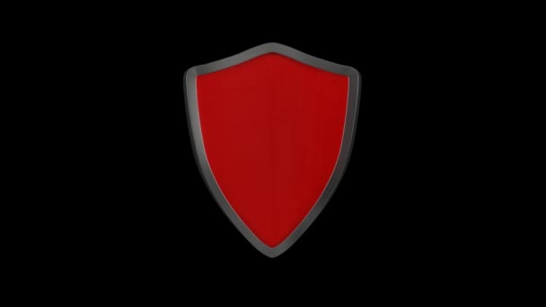 Anti-vírus web ikon animáció. Vírusvédelmi pajzs