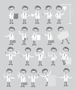 Many Doctors Concepts Vintage Graphic Set