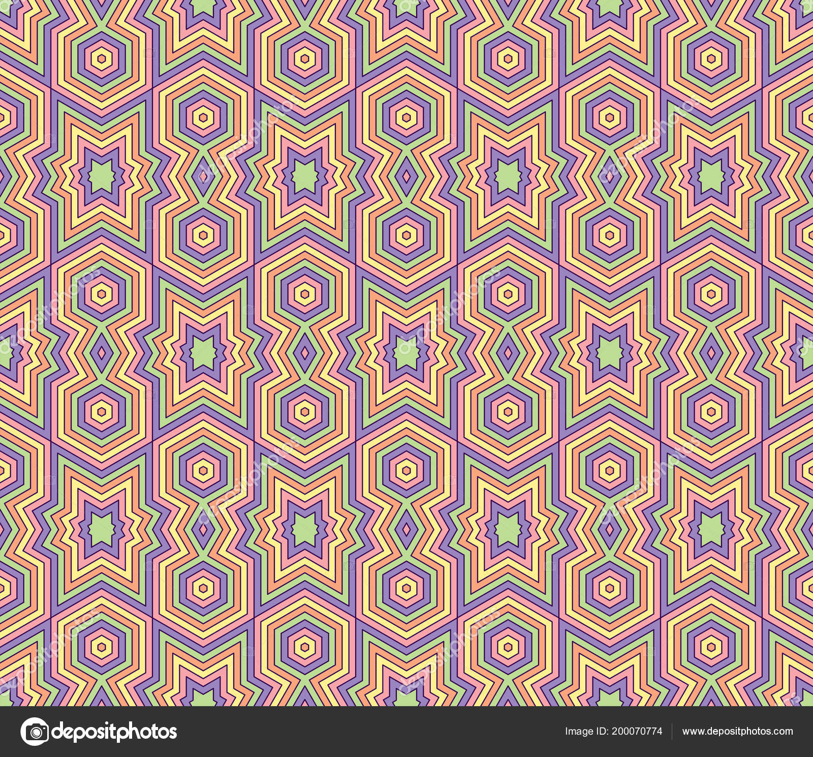 High Quality Colorful Wallpaper Islamic Arabic Style Seamless Asian Patterns
