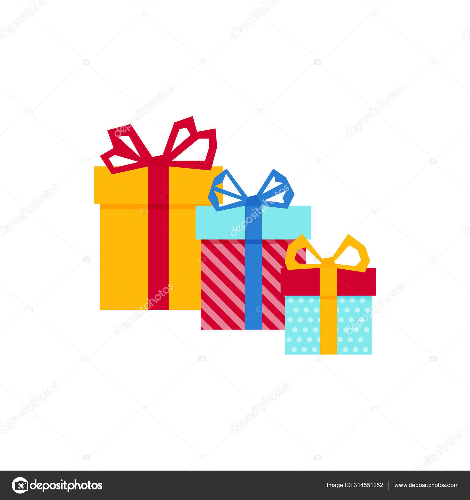 Set With Gift For Any Design Colorful Blank Cardboard Package Box Product Packaging White Background Surprise Symbol Gift Box Vector Design Template Holiday Background Christmas Vector Vector Image By C