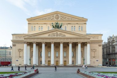 The Bolshoi Theater, is a historic theater in Moscow, Russia.