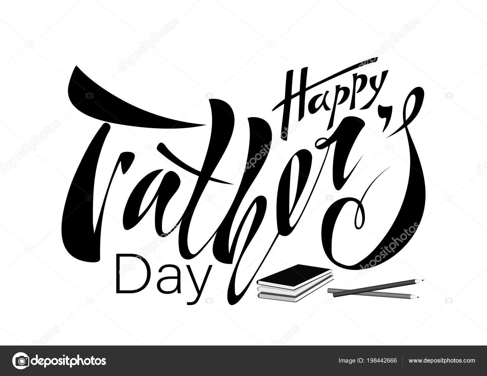 Bella Scritta Mano Giorno Del Testo Felice Padre Biglietto Auguri ... 05bb49e441ee